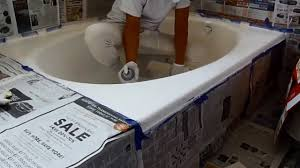 Bathroom Tile Paint Kit Spray Paint Bath Tub With Homax Paint Kit Youtube