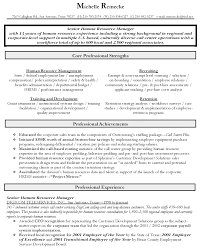 Senior Resume Template Sle Hr Generalist Resume Free Resumes Tips