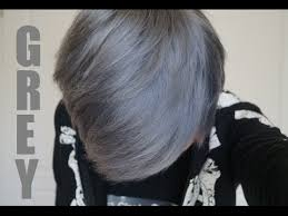 black grey hair how to dye your hair silver grey the safe way youtube