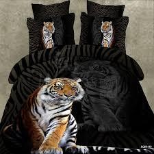 3pcs top quality cartoon 3d bedding set bedspread tiger animal bed