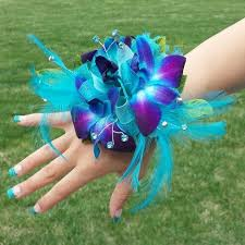 Blue Orchid Corsage Purple And Blue Orchid Corsage