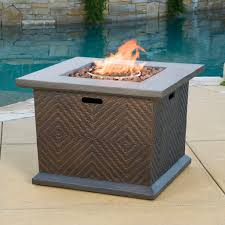 Fire Pit With Lava Rocks - raul outdoor 32 inch square liquid propane fire pit with lava