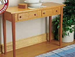 Woodworking Plans Desk by Shaker Hall Table Woodsmith Plans Pinterest Woodsmith Plans