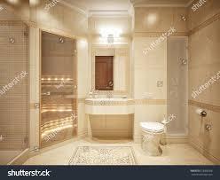 Luxurious Bathroom by Luxurious Bathroom Interior Design Classic Style Stock