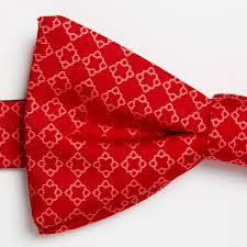 pre silk bow tie ornament coral floerke make the