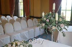 used wedding chair covers 120 used ex hire white wedding chair covers poly cotton size 1