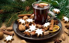 Christmas Nuts Wallpaper Christmas Spices Cinnamon Wine Drink Nuts Cookies Hd