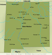 New Mexico rivers images Map of new mexico rivers mexico map gif