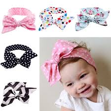 toddler hair accessories fashion headband baby hair band toddler cotton bowknot headwear