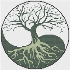 yin yang tree of counted cross stitch pattern x stitch pdf