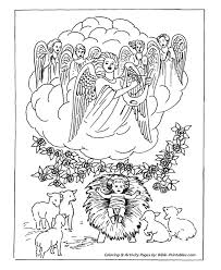 classic christmas coloring pages heavenly host angels