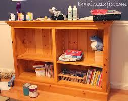 Bookcase Pine Painting A Pine Bookshelf The Kim Six Fix