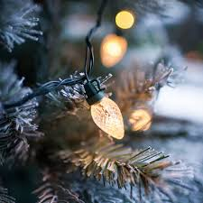 80 warm white led c7 pinecone tree lights l