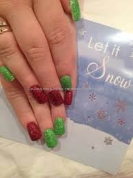 eye candy nails u0026 training green and red christmas glitter