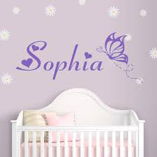 online get cheap wall sticker love name aliexpress com alibaba butterflies personalized custom wall stickers girl lovely custom name vinyl wall decal removable vinyl home decor