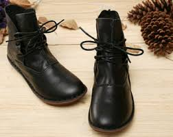 womens black leather boots sale womens shoes etsy