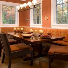 Wooden Banquette Seating Furniture 1000 Images About Banquette Bench With Brown Leather