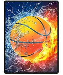 Basketball Curtains Amazon Com Custom Flaming Basketball Window Curtains Drape Panels