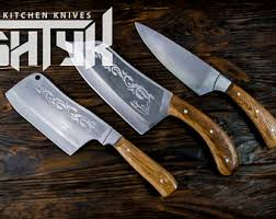engraved kitchen knives professional chef knife kitchen knife set handmade by shtyk