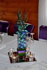wedding table decorations with peacock feathers decorating of party