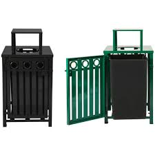 how to make a decorative outdoor trash cans landscaping