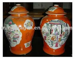 Hand Painted Vase Chinese Antique Hand Painted Painted Procelain Vase With Lid From