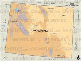 Physical Map Of Colorado by Geoatlas United States Canada Wyoming Map City Illustrator