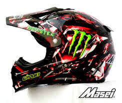 monster motocross helmets masei hjc cirus 307 red bull monster energy drinks motocross atv
