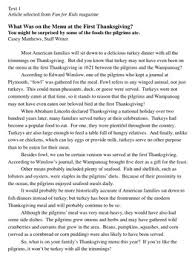 essay on thanksgiving dinner divascuisine