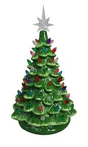 ceramic christmas tree with lights cracker barrel amazon com relive christmas is forever lighted tabletop ceramic