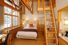 our loft rooms feature one queen bed and twin bed on the ground