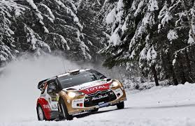 rally subaru snow citroen ds3 rally wrc winter snow christmas tree forest front