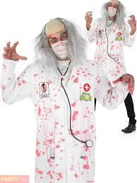 mens zombie doctor costume halloween zombie surgeon fancy dress