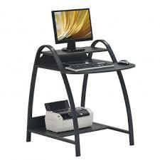 petit bureau noir bureau informatique avec chassis en métal couleur noir