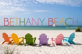 Delaware travel chairs images Bethany beach delaware colorful beach chairs lantern press