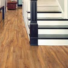 Thickest Laminate Flooring Hampton Bay High Gloss Natural Palm 8 Mm Thick X 5 In Wide X 47 3