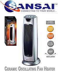 oscillating fan and heater sansai ceramic oscillating fan heater electronic world
