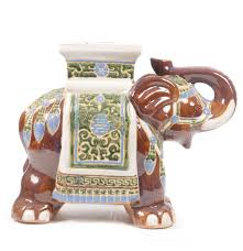 asian inspired hand painted ceramic elephant stool ebth