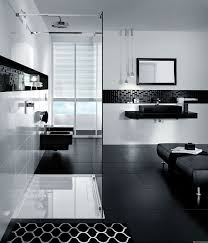 white modern washing machine black and white bathroom rugs wall bathroom white square pattern floor black and tile textured wall shelf storage charming large mirror curtain bathroom black color design ideas and white