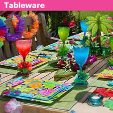 Tropical Themed Party Decorations - luau party supplies hawaiian party supplies tropical party
