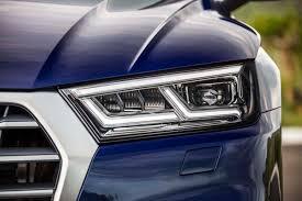 audi headlights 9 tidbits from the 2018 audi q5 euro spec drive motor trend