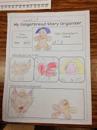 gingerbread man writing paper a spoonful of learning gingerbread man we