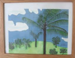 how to draw a hawaiian palm tree scene on graph paper hubpages