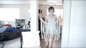 Giant Dream Catcher DIY Modern Room Decor under $10