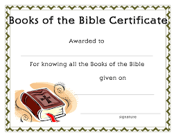 www certificatetemplate org books of the bible certificate for