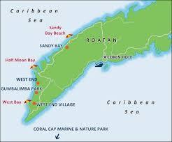 map of roatan honduras printable travel maps of honduras honduras travel maps and roatan