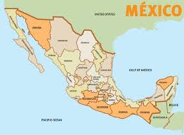 map of mexico with states states mexico map major tourist attractions maps