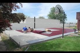 Building A Backyard Basketball Court Snapsports Installs A Outdoor Basketball Court Home Game Court