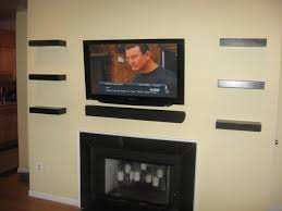 splendid wall mounted tv interior design with under gallery of gas