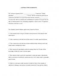 Financial Warranty Letter general contractor warranty letter template